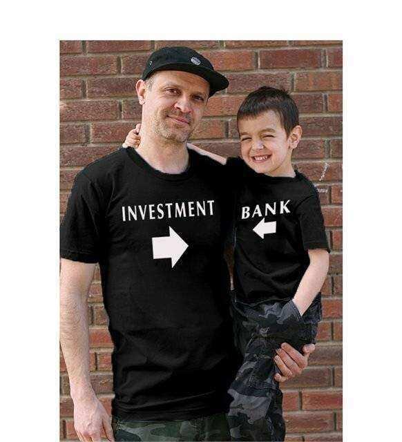 Tshirthane - İnvestment Bank Baba Oğul Giyim Siyah Tişört