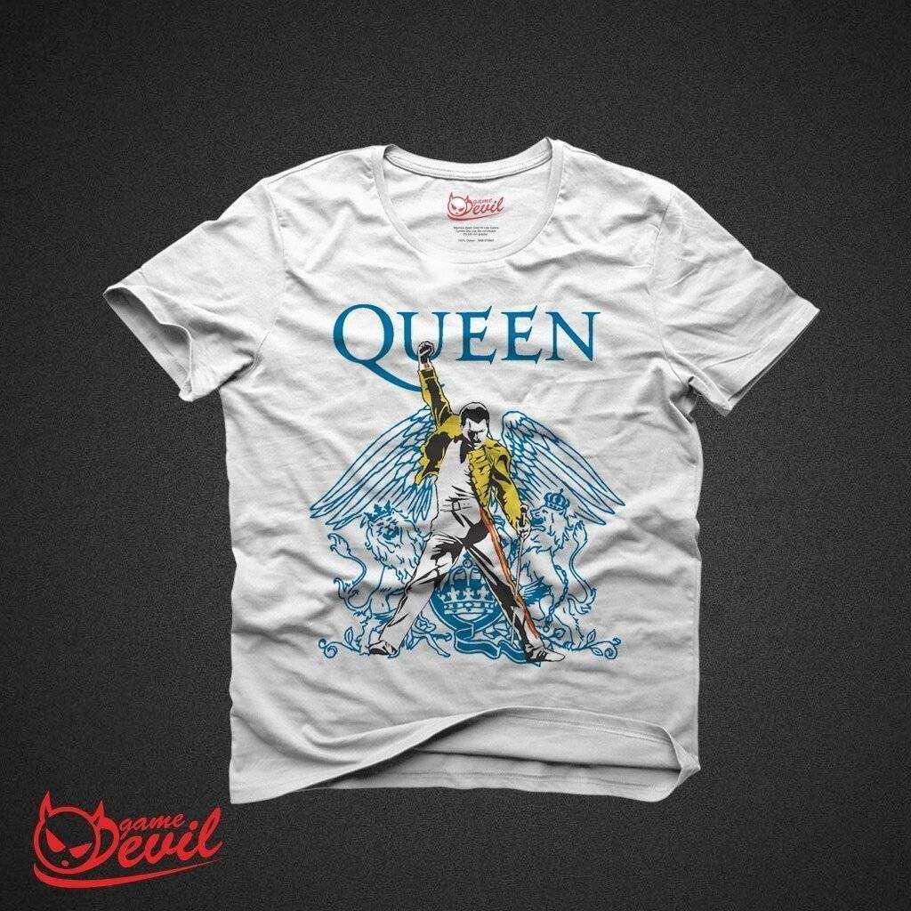 Queen Freddie Mercury Beyaz Tişört Kısakollu Tshirt