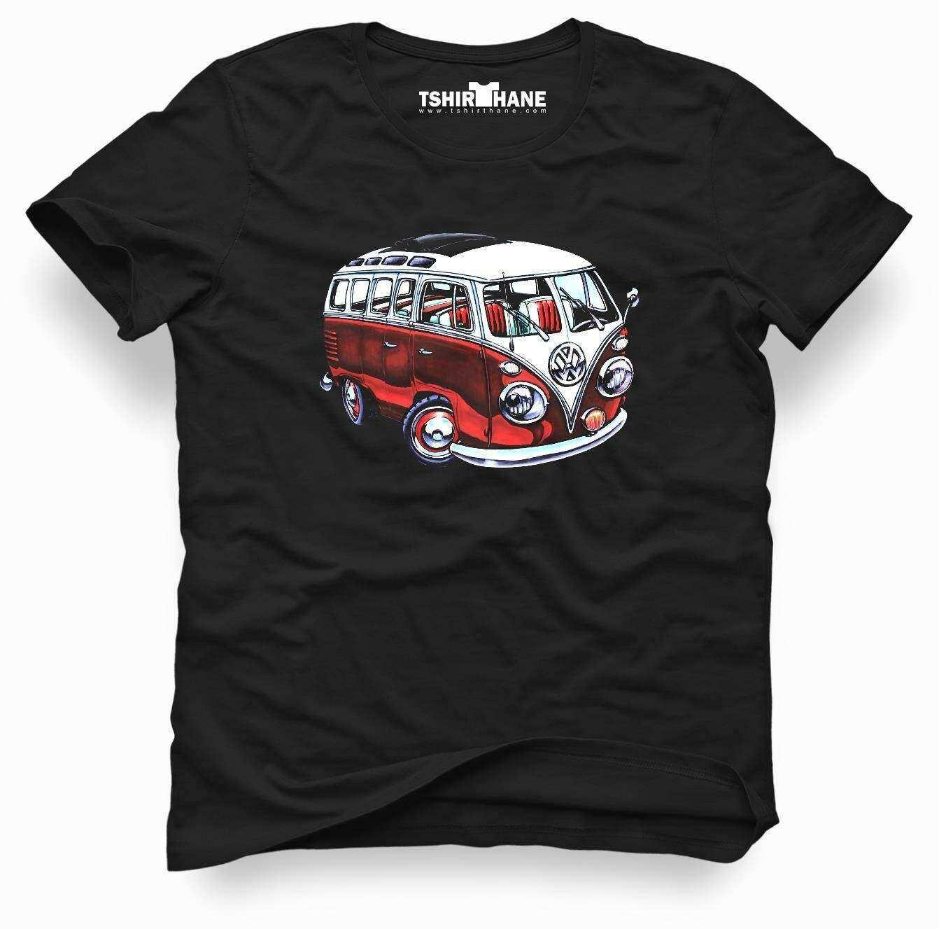 Tshirthane vw volkswagen t1 minibüs Tişört Erkek Tshirt