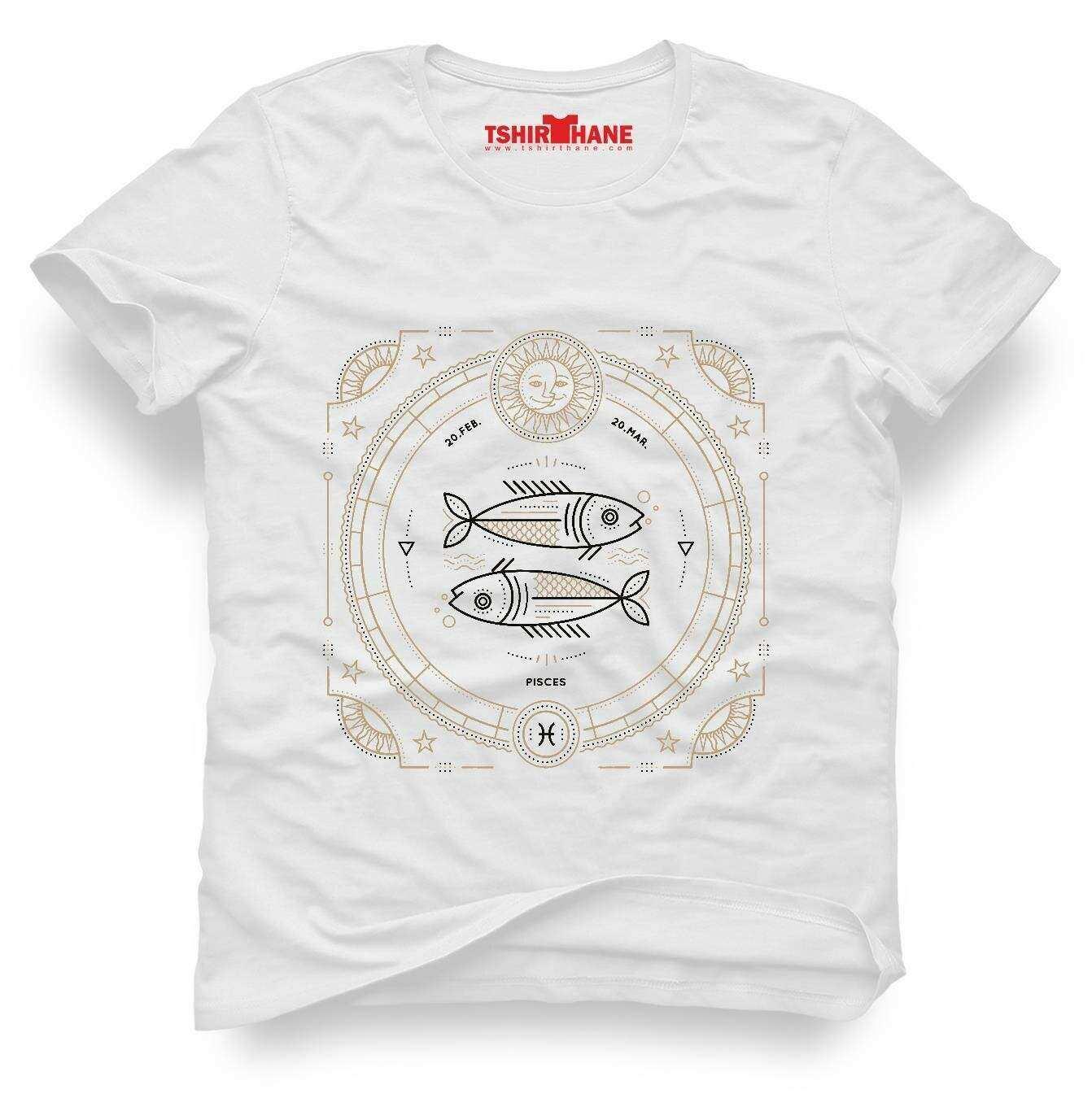 Tshirthane Balık Burcu Pisces Tişört Erkek Tshirt