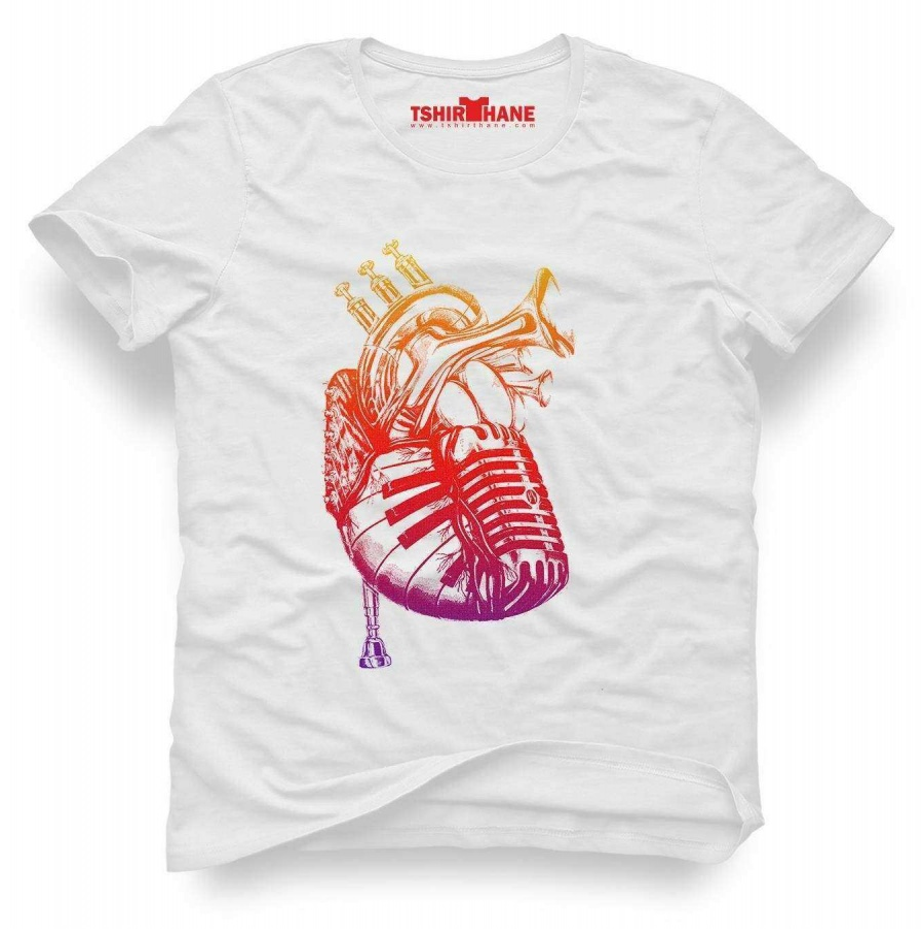 Tshirthane Kalbim müzikle çarpiyor Tişört Erkek Tshirt