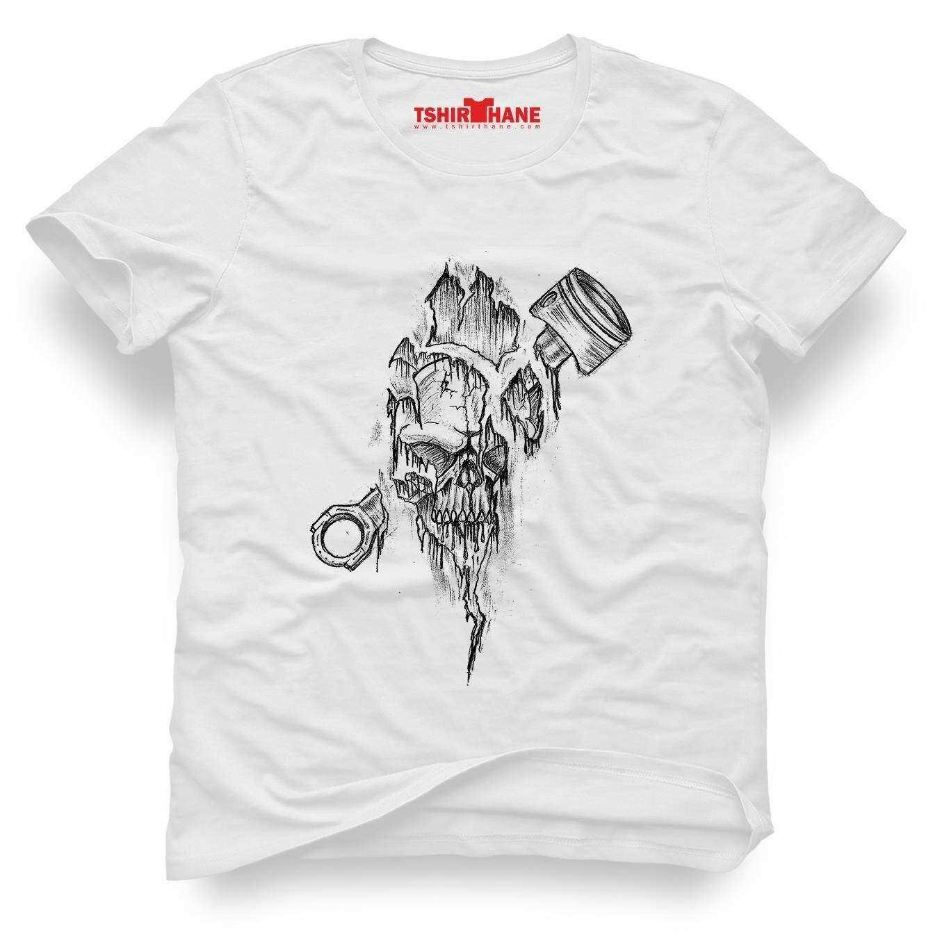 Tshirthane İskelet piston Tişört Erkek Tshirt
