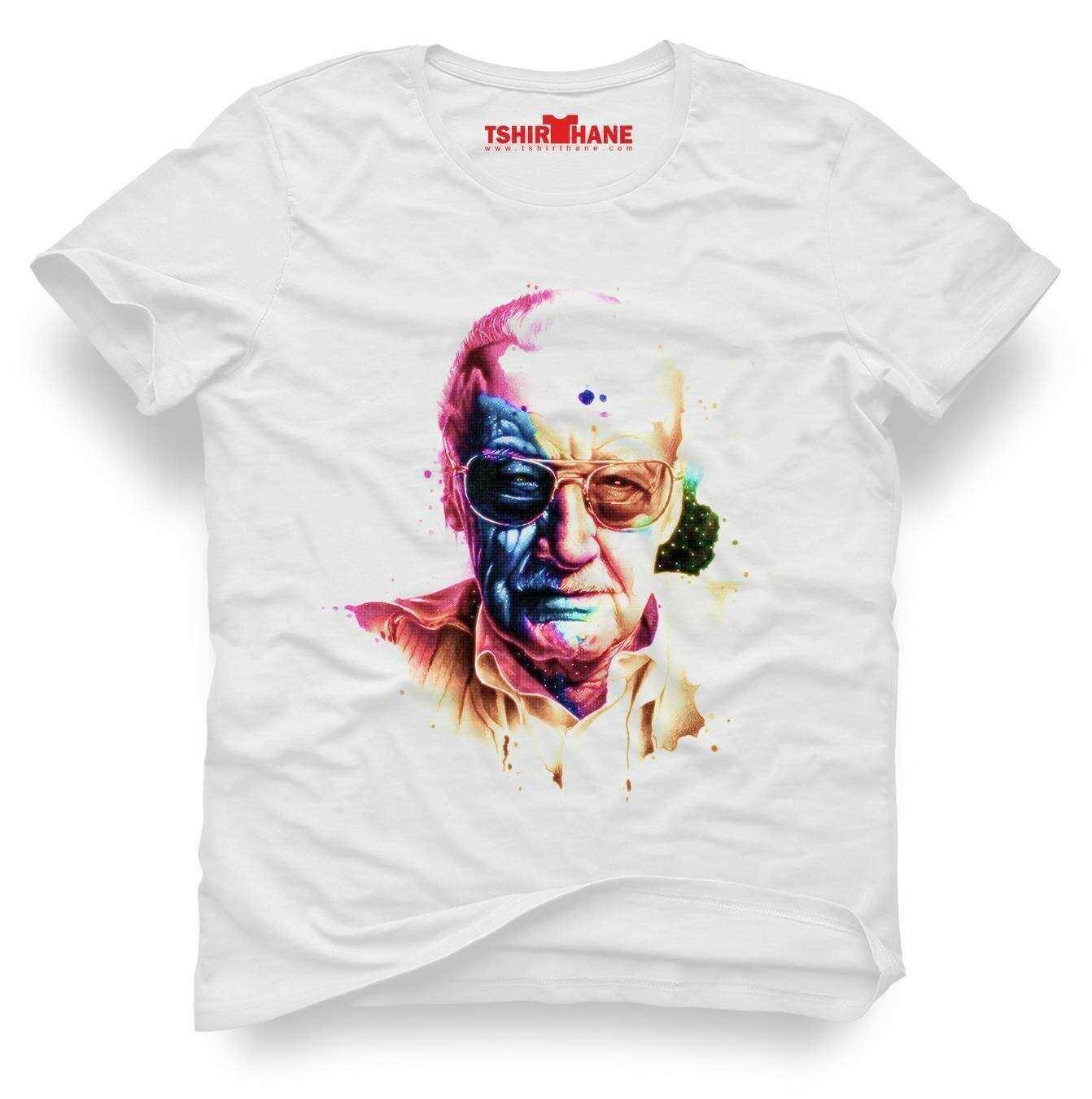 Tshirthane stan lee marvel color Tişört Erkek Tshirt