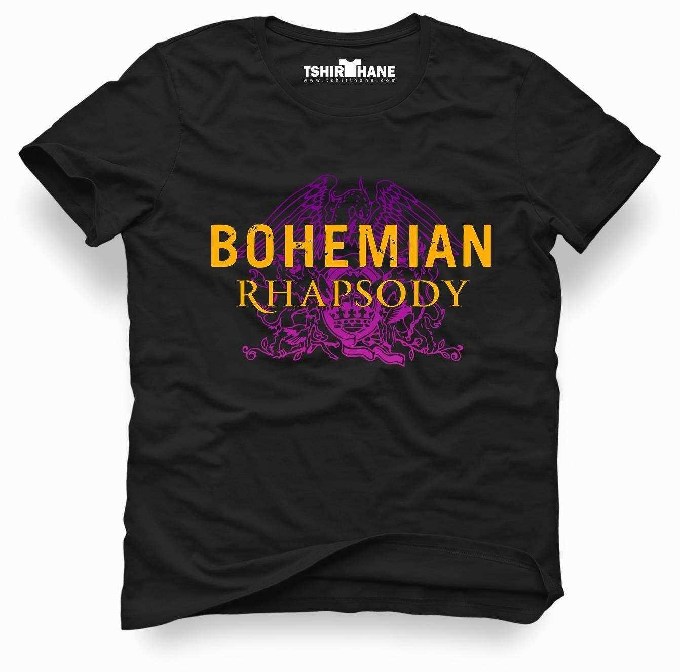 Tshirthane QUEEN BOHEMIAN RHAPSODY logo Tişört Erkek Tshirt