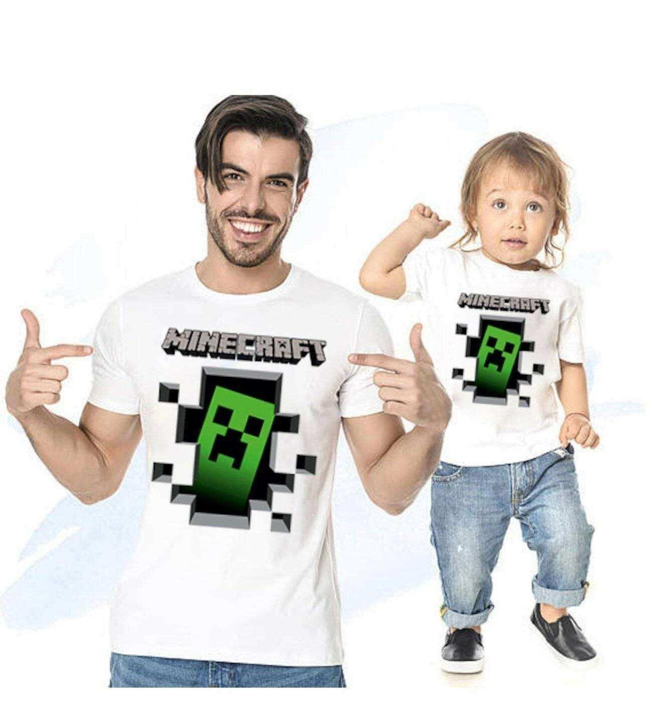 Minecraft Baba oğul Giyim Tshirt