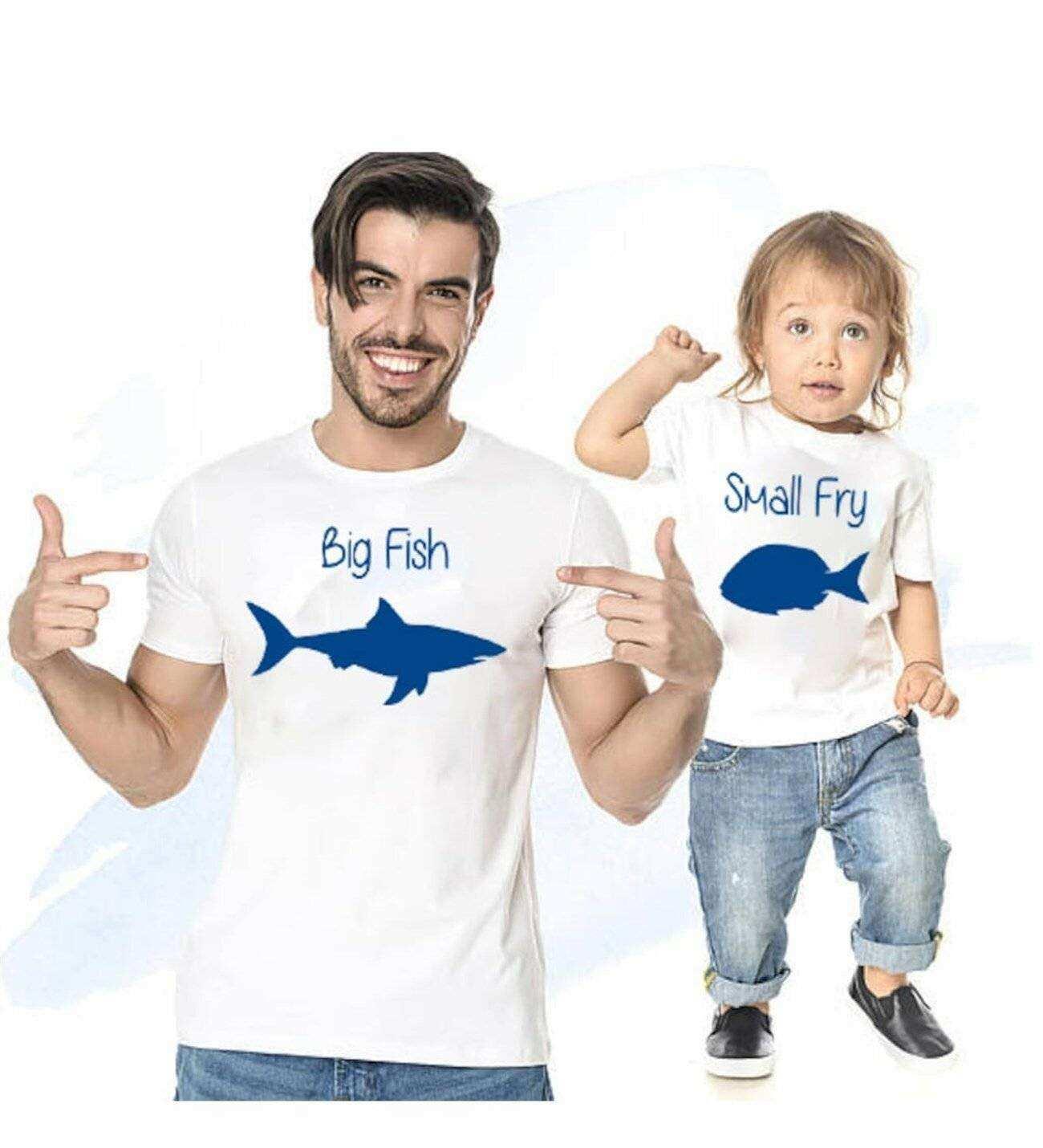 Tshirthane - Big Fish Small Fry Baba Oğul Tshirt